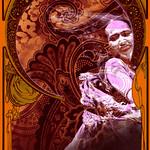 Affiche Lila Zellet du groupe Gitan du Mexique, Egiptanos