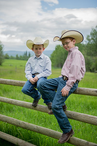 Two young cowboys photo