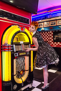 Pinup model at Wurlitzer