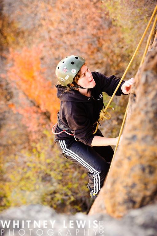 Abby Climbing