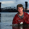 "Decatur High School quarterback Ben Neill.<br /> From the ""Hometown Heroes"" portrait series."