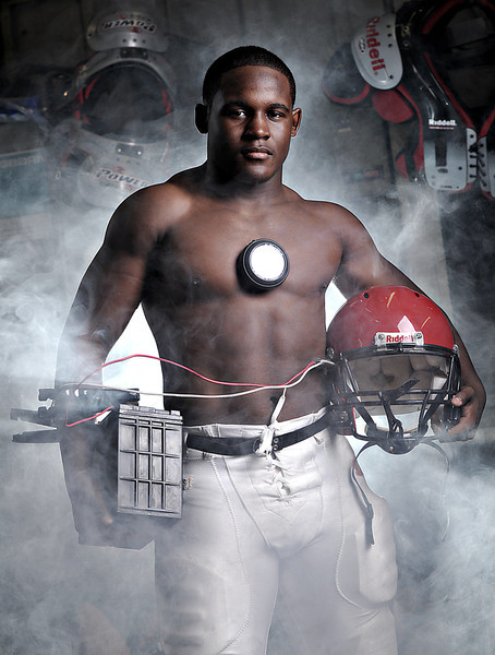 "Decatur's Harold Swopes.<br /> From the ""IRONMEN"" portrait series."