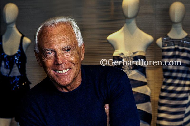 Giorgio Armani, designer, Shanghai