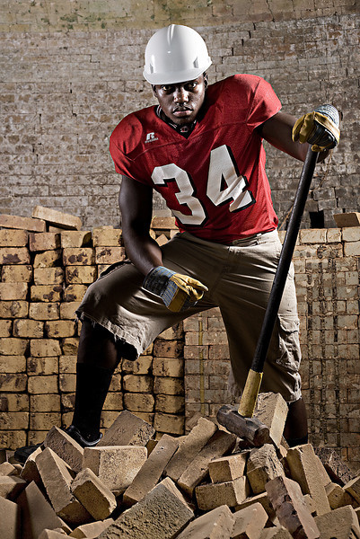 "Decatur's Desmond Lavelle.<br /> From the ""Blue Collar Football Players"" series."
