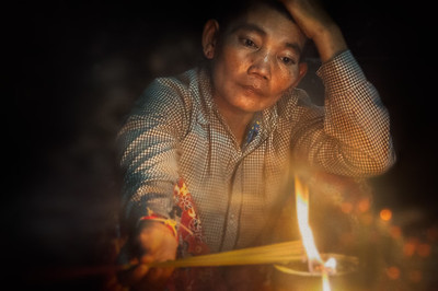 Candle Light Prayer - Cambodia