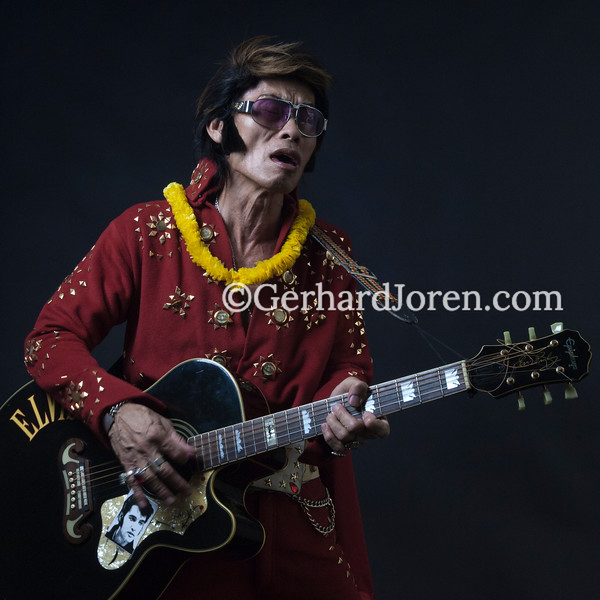 Elvis Presley impersonator Melvis