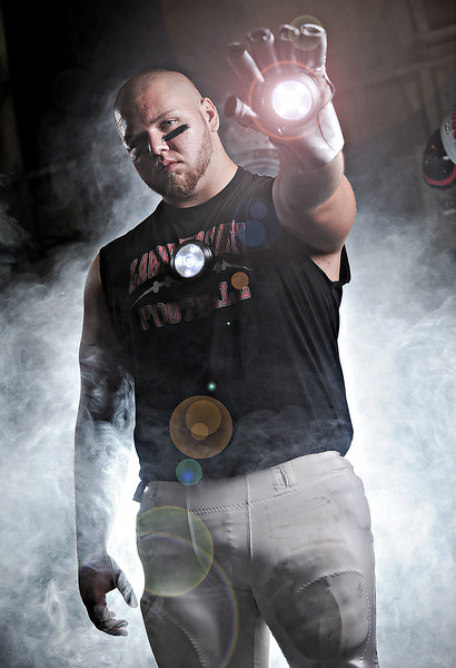 "Lawrence County's Adam Melson.<br /> From the ""IRONMEN"" portrait series."
