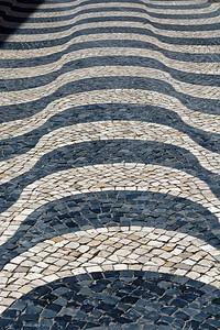 Effet de vagues - Pavés de rue - Cascaïs - Portugal.