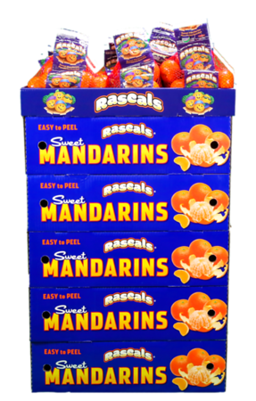 Rascals Mandarins Display (front)
