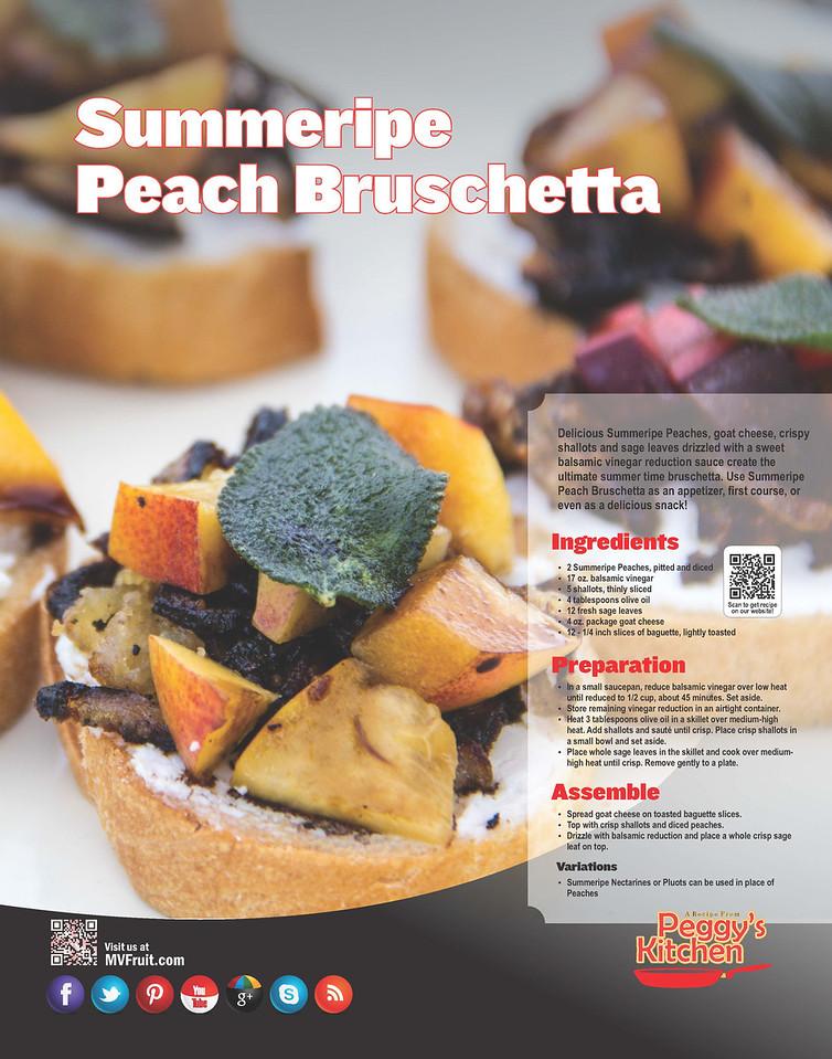 Summeripe Peach Bruschetta