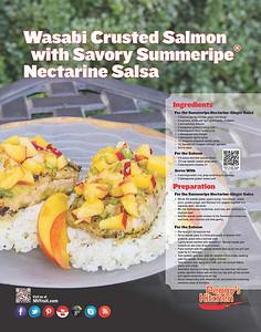Wasabi Crusted Salmon with Nectarine Salsa