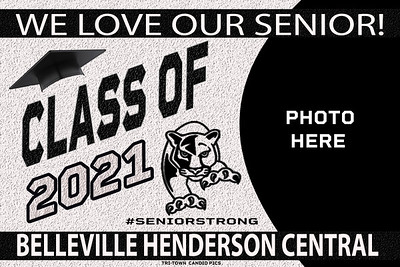 Belleville Henderson Central yard Sign bannerL