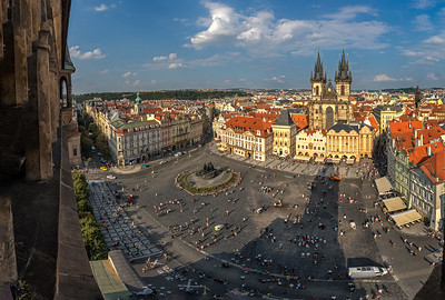 Prague from the clock tower