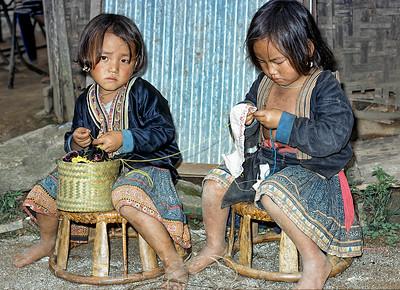 Karen village children