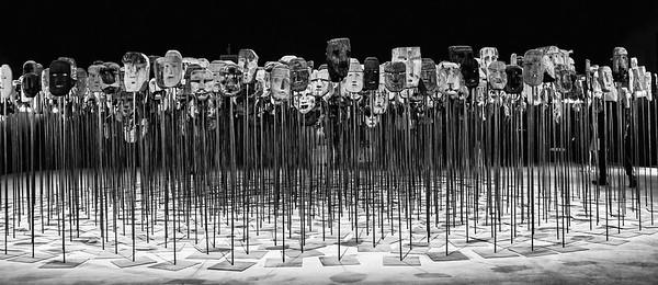 Mapuche masks-Chilean Exhibit - Biennale Venice 2017