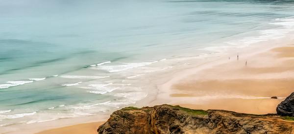 Atlantic coast-Bedruthan Steps