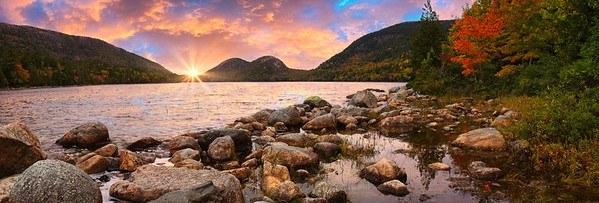 SUNRISE AT JORDAN POND
