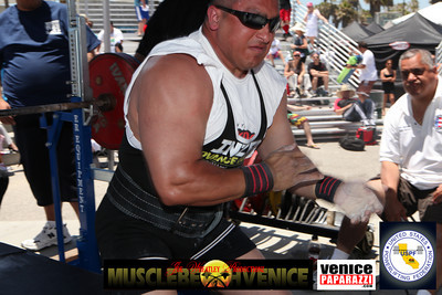For more information or to compete in future events at Muscle Beach gym, visit. http://www.powerliftingca.com, http://www.muscelbeachvenice.com  or visit Muscle Beach Gym in Venice. 1800 Ocean Front Walk Venice, CA 90291.  Promoter: Joe Wheatley.http://www.musclebeachvenice.com. Meet Director: Steve Denisen. pwrlftrs@msn.com..  Photos by Venice Paparazzi.  www.venicepaparazzi.com
