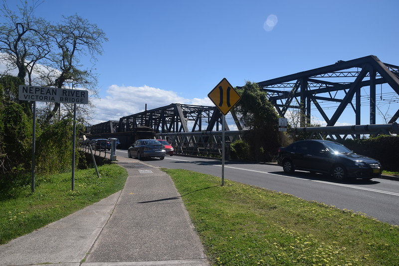 Victoria Bridge - about to cross the Nepean River!