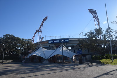 An early morning at Spotless (Sydney Showground) Stadium – home of the Sydney Thunder and GWS Giants