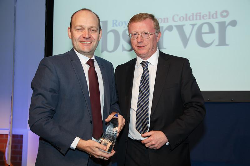 Great Midlands Fun Run Awards 2015 - L to R - Gary Phelps (Group Editor CIN), Dave Cox