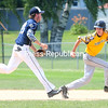 Fourth Ward Athelics  play Adams Glass Dodgers Sunday during the CVBL baseball action at South Acres in Plattsburgh. (ROB FOUNTAIN/STAFF PHOTO)
