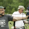 Marc Cooper takes aim during Masters' Archery competition at the Empire State Games , N.Y., on Saturday, July 24, 2010. <br /><br />(P-R Photo/Michael Okoniewski)