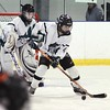 Chazy's Alexis Gay helps defend the net against Skaneateles at the Allyn Arena in Skateateles, N.Y., on Saturday, Feb. 13, 2010. Goalie Christina Emery in in the net. Mike Okoniewski/P-R Photo