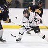 Chazy player Amanda Peterson works against Skaneateles at the Allyn Arena in Skateateles, N.Y., on Saturday, Feb. 13, 2010. Mike Okoniewski/P-R Photo (it's possible that the player is Hannah Newgarden)