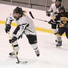 Chazy player Shannon Olsen works against Skaneateles at the Allyn Arena in Skateateles, N.Y., on Saturday, Feb. 13, 2010. Mike Okoniewski/P-R Photo (it's possible that the player is Hannah Newgarden)