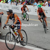 Monday, July 29, 2013. Over 2,500 athletes challenged themselves to the grueling triathlon that features a 2.4 mile swim in Mirror Lake, a 112 mile bike race through the mountains and a 26.2 mile run through Lake Placid and around the lake. <br /><br />(P-R Photo/Rachel Moore)