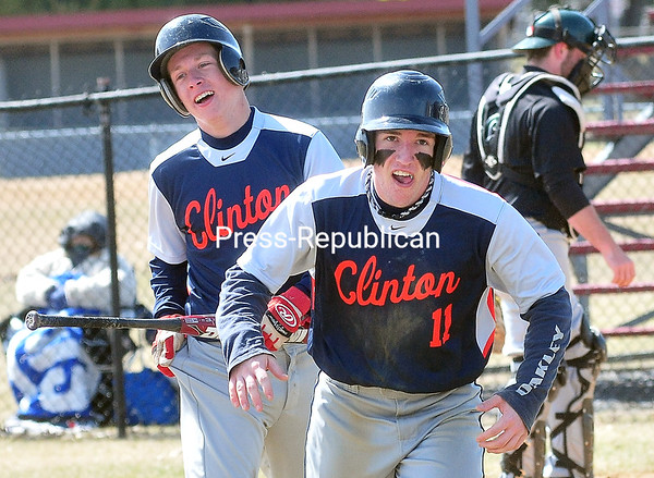 Friday, April 18, 2014. Clinton Community College plays Hudson Valley Community College in men's baseball at South Acres in Plattsburgh. <br /><br />(P-R Photo/Rob Fountain)
