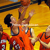 Sunday, November 18, 2012. The Clinton Community College Cougar men lost to visiting Cayuga Community College in basketball, 57-56, Saturday, Nov. 17, 2012. <br /><br />(P-R Photo/Rob Fountain)