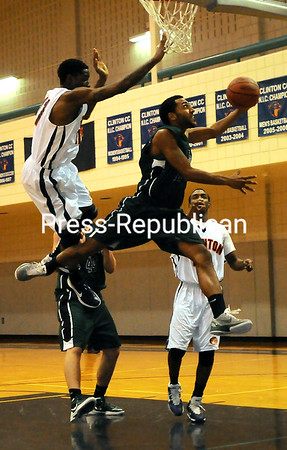 Thursday, November 3, 2011. Clinton Community College vs. North Country Community College in Plattsburgh.  CCC won 67-63.<br><br>(P-R Photo/Rob Fountain)
