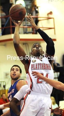 Tuesday, December 6, 2011. Plattsburgh State vs. New Paltz in Plattsburgh.  PSU won 86-72. <br /><br />(P-R Photo/Rob Fountain)