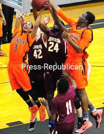 Sunday, January 18, 2015. Clinton plays Jefferson in men's basketball Sunday in Plattsburgh. <br /><br />(P-R Photo/Rob Fountain)