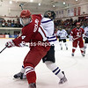Saturday, December 29, 2012. Amherst took a 3-0 lead and held on for a 3-2 victory against Plattsburgh State in Cardinal Classic championship game Saturday night at Stafford Arena.   <br /><br />(P-R Photo/Gabe Dickens)