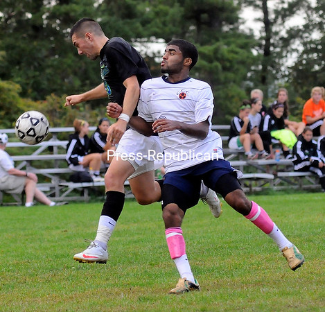 Saturday, September 24, 2011. Clinton Community College vs. Finger Lakes Community College in Plattsburgh.  Finger Lakes won 1-0.<br><br>(P-R Photo/Rob Fountain)