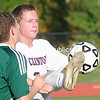 Monday, September 29, 2014. Clinton Community College plays Mohawk Valley Community College in men's soccer Sunday at Plattsburgh High School. <br /><br />(P-R Photo/Rob Fountain)