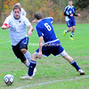 Tuesday, October 18, 2011. Clinton Community College vs. Word of Life College in Plattsburgh.  CCC won 4-2.<br><br>(P-R Photo/Rob Fountain)