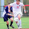 Friday, October 19, 2012. The Cardinals dropped a 2-1 decision to the Blue Knights at Friday's SUNY Athletic Conference men's soccer game.  <br /><br />(P-R Photo/Rob Fountain)