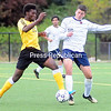 Monday, October 7, 2013. Clinton Community College men play soccer against SUNY DELHI Sunday at the Plattsburgh State Fieldhouse. Delhi defeated both the CCC men and women. <br /><br />(P-R Photo/Rob Fountain)