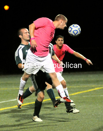 Tuesday, September 27, 2011. Plattsburgh State vs. Lyndon State in Plattsburgh.  PSU won 4-0.<br><br>(P-R Photo/Rob Fountain)