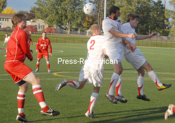 Wednesday, October 20, 2010. Plattsburgh State vs. St. Lawrence at the Plattsburgh State Field House.  St. Lawrence won 2-1 in overtime.<br><br>(P-R Photo/Andrew Wyatt)