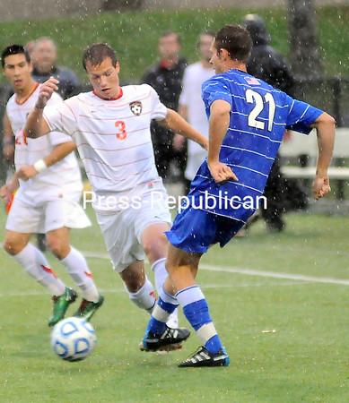 Friday, October 14, 2011. Plattsburgh State vs. Fredonia State in Plattsburgh.  PSU won 4-1.<br><br>(P-R Photo/Rob Fountain)