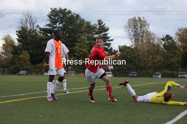 Saturday, October 15, 2011. Plattsburgh State vs. Buffalo State in Plattsburgh.  PSU won 3-1.<br><br>(P-R Photo/Gabe Dickens)