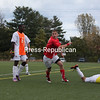 Saturday, October 15, 2011. Plattsburgh State vs. Buffalo State in Plattsburgh.  PSU won 3-1.<br><br>(P-R Photo/Gabe Dickens)