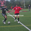Monday, August 20, 2012. Plattsburgh State and University of Montreal soccer exhibition at the Plattsburgh State Field House. The Cardinals get underway Aug. 31 against Johnson State College in the Cardinal Classic <br /><br />(Staff Photo/Kelli Catana)
