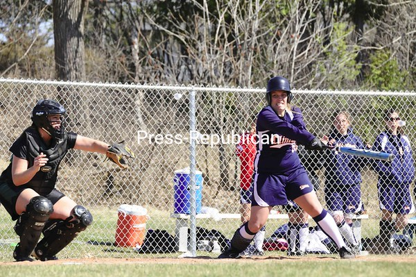 Thursday, April 16, 2009. Clinton Community College vs. North Country Community College in Plattsburgh. Clinton won both games of the double header 15-0 and 13-5.<br><br>(Staff Photo/Michael Betts)