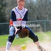 ROB FOUNTAIN STAFF PHOTO  4/25/2016<br /> Clinton plays Columbia-Greene in girls softball Sunday in Plattsburgh.